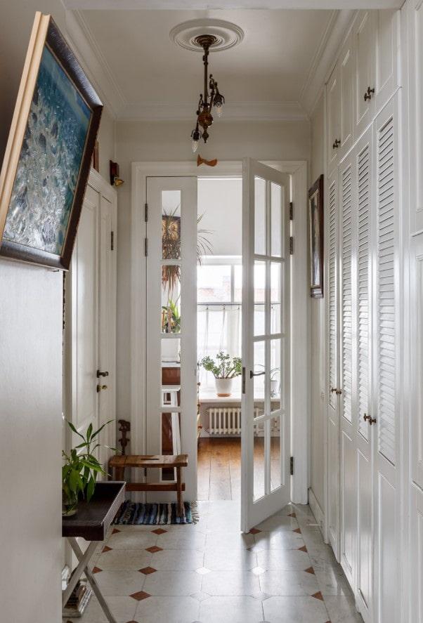 portes avec inserts en verre