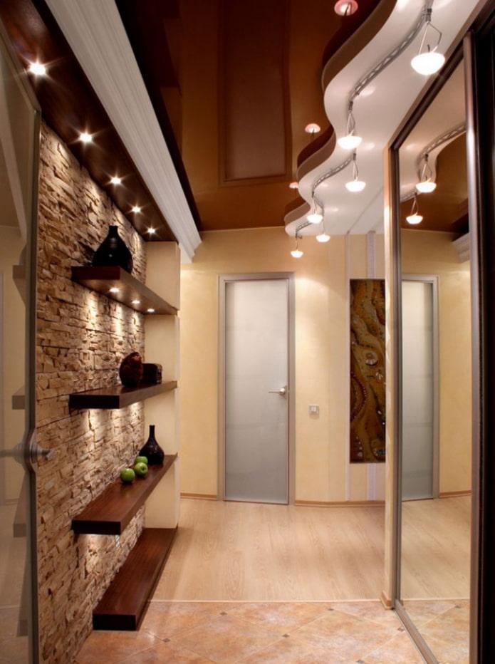 structure de tension bicolore dans le couloir