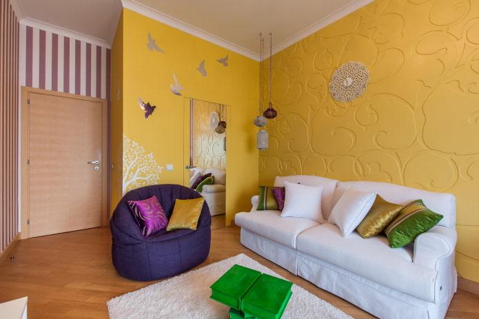 petite chambre avec canapé