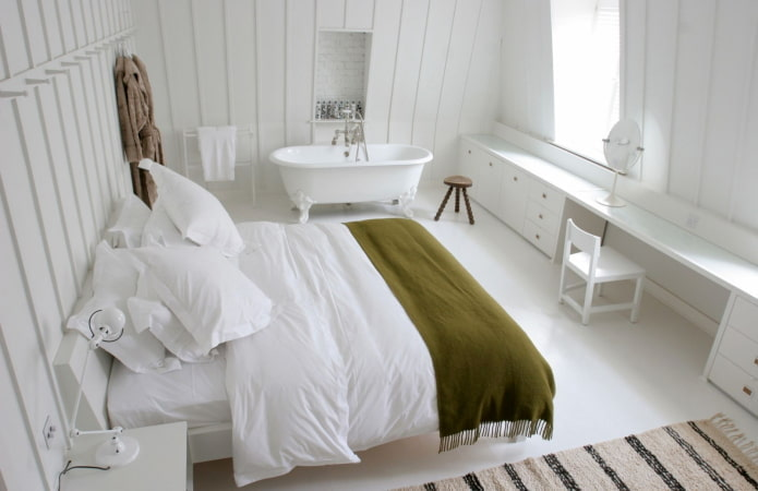 salle de bain-chambre avec sol autonivelant