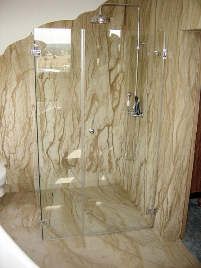 douche en pierre flexible