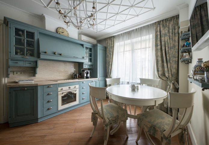 tulle et rideaux dans la cuisine