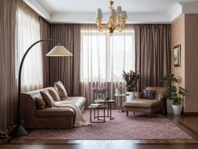 ensemble de meubles marron clair