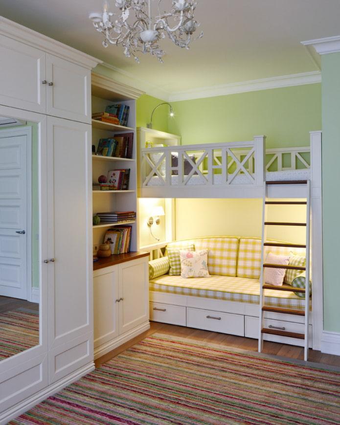 lit avec canapé en bas