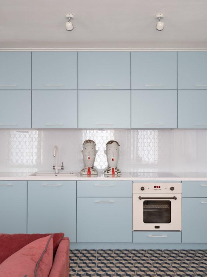 set de cuisine bleu