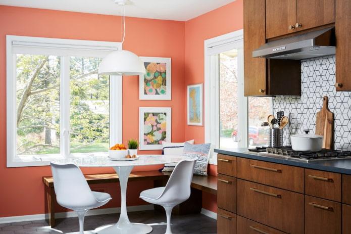 murs lumineux dans la cuisine