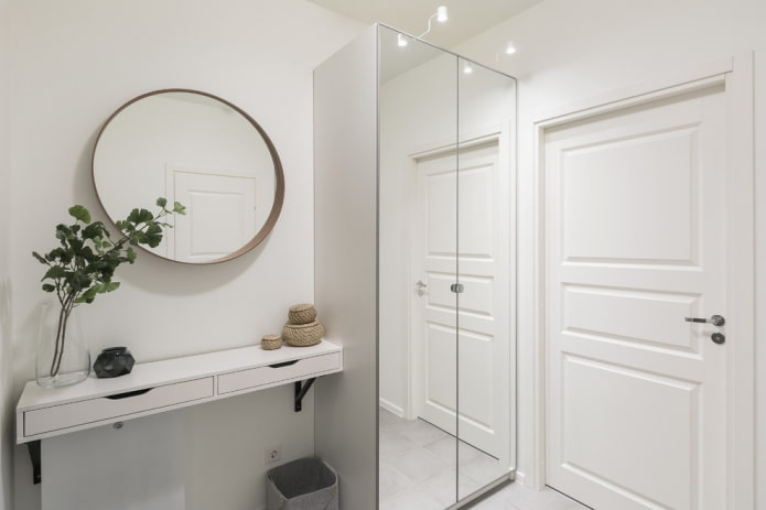 Armoire avec portes miroir