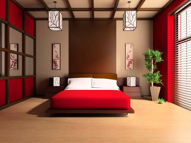 conception de chambre rouge