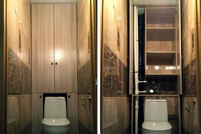 armoire à Khrouchtchev dans les toilettes