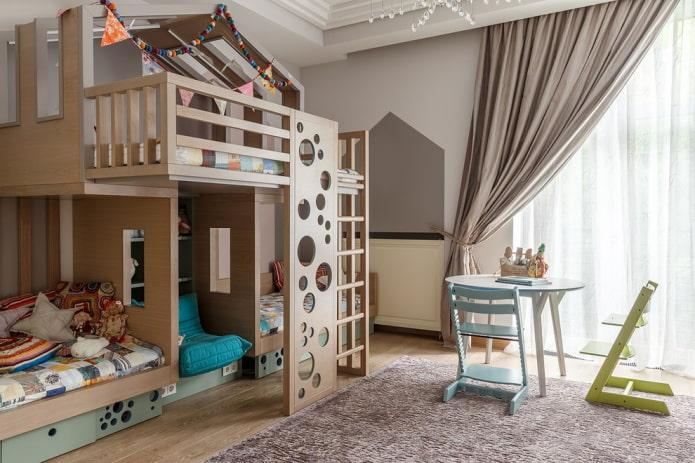 lit triple avec fauteuil